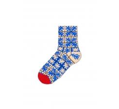 Dámske modré teplé ponožky Happy Socks Emilia // kolekcia Hysteria
