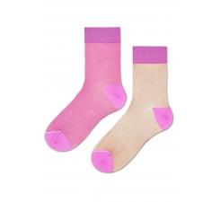 Dámske ružové ponožky Happy Socks Filippa // kolekcia Hysteria