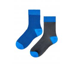 Dámske čierno-modré ponožky Happy Socks Filippa // kolekcia Hysteria