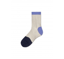 Dámske béžovo-fialové ponožky Happy Socks Janni // kolekcia Hysteria