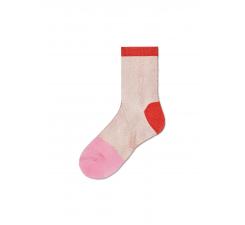Dámske béžovo-červené ponožky Happy Socks Janni // kolekcia Hysteria