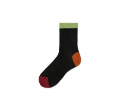 Dámske čierne ponožky Happy Socks Grace I // kolekcia Hysteria