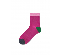 Dámske ružové ponožky Happy Socks Grace // kolekcia Hysteria
