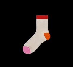 Dámske krémové ponožky Happy Socks Grace // kolekcia Hysteria