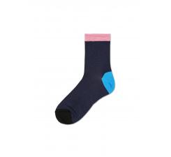 Dámske tmavomodré ponožky Happy Socks Grace I // kolekcia Hysteria