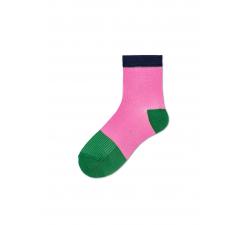 Dámske ružovo-zelené ponožky Happy Socks Janna // kolekcia Hysteria