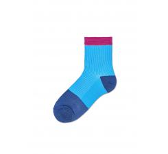 Dámske modré ponožky Happy Socks Janna // kolekcia Hysteria