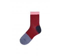 Dámske červenošedé ponožky Happy Socks Jill // kolekcia Hysteria