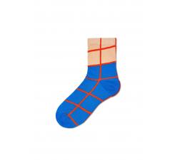 Dámske modro-krémové ponožky Happy Socks Karen // kolekcia Hysteria