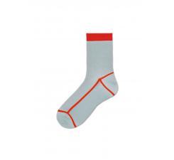 Dámske šedočervené ponožky Happy Socks Lily // kolekcia Hysteria