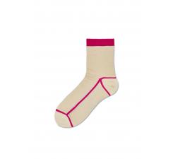Dámske krémové ponožky Happy Socks Lily // kolekcia Hysteria