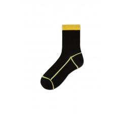 Dámske čiernožlté ponožky Happy Socks Lily // kolekcia Hysteria