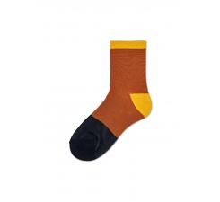 Dámske oranžovočierne ponožky Happy Socks Liza // kolekcia Hysteria
