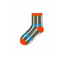Dámske oranžovo-zelené ponožky Happy Socks Magda // kolekcia Hysteria