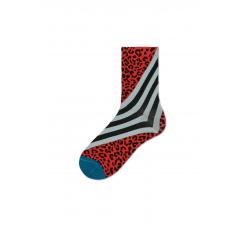Dámske červené ponožky Happy Socks Samanta // kolekcia Hysteria