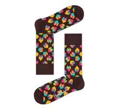 Čierne ponožky Happy Socks s farebným vzorom Steps