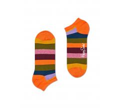 Nízke farebné pruhované ponožky Happy Socks, vzor Stripe
