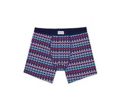 Farebné dlhšie boxerky s gombíkmi Happy Socks so vzorom Temple