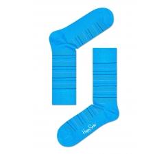 Modré ponožky Happy Socks s farebnými prúžkami, vzor Thin Stripe