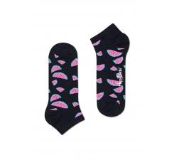 Nízke čierne ponožky Happy Socks s farebnými melónmi, vzor Watermelon
