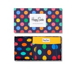 Dárková krabička Happy Socks Combo box Big Dot Blue, pánská