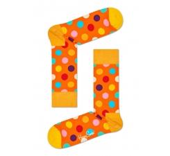 Oranžové ponožky Happy Socks s farebnými bodkami, vzor Easter Big Dot