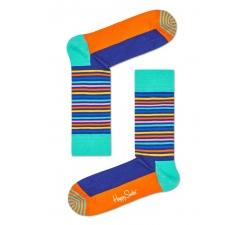 Farebné ponožky Happy Socks s prúžkami, vzor Easter Half Stripe