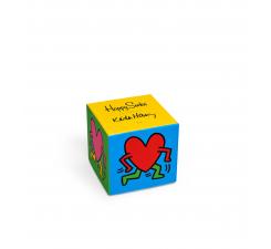 Darčeková krabička Happy Socks - Keith Haring / Valentine´s day, tri páry