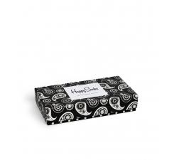 Dárková krabička Happy Socks Black and White, vzor Paisley, dámská
