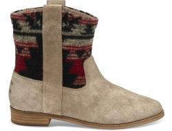 Béžové / Farebné dámske vysoké topánky TOMS Tribal Laurel Boot
