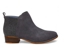 Dámske sivé členkové topánky TOMS Deia