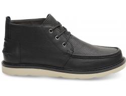 Pánske čierne členkové topánky TOMS Chukka