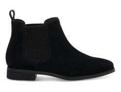 Dámske čierne členkové topánky TOMS Ella