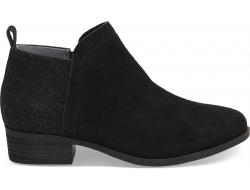 Dámske čierne členkové topánky TOMS Deia