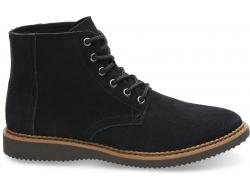 Pánske čierne kotníkové boty TOMS Porter