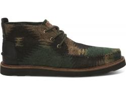 Zeleno-hnědé pánské kotníkové boty TOMS Chukkas