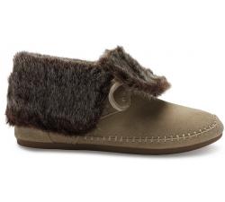 Béžové dámské semišové kotníkové boty TOMS Zahara Bootie