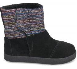 Detské čierne vysoké topánky TOMS Tiny Nepal
