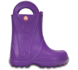 Handle It Rain Boot Kids Neon Purple C6