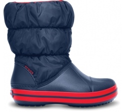 Winter Puff Boot Kids Navy/Red C7