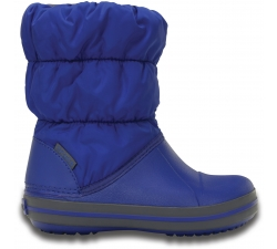 Winter Puff Boot Kids - Cerulean Blue/Light Grey C10