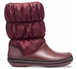 Winter Puff Boot Women Burgundy/Black W10