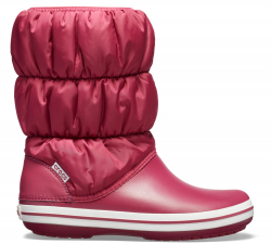 Winter Puff Boot Women Pomegranate/White