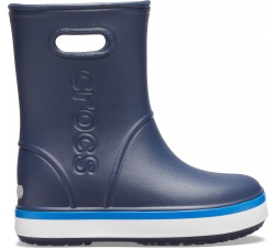Crocband Rain Boot K Navy/Bright Cobalt C10