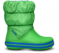 Winter Puff Boot Kids Lime/Sea Blue