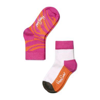 Detské farebné ponožky Happy Socks, dva páry - Zebra