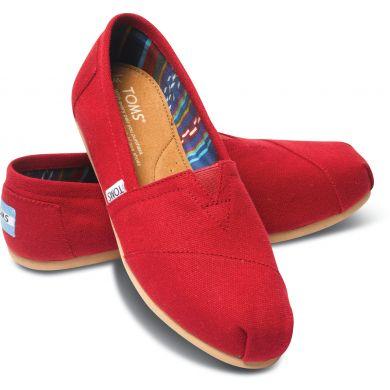 Dámske červené TOMS Core Classics Alpargata