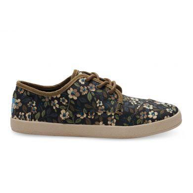 Černé dámské tenisky TOMS Paseo s květy