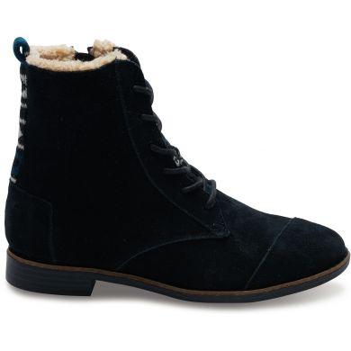 Černé dámské kotníkové boty TOMS Alpa Boot