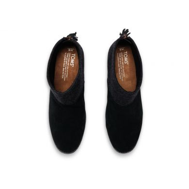 Černé dámské kotníkové boty TOMS Leila Bootie